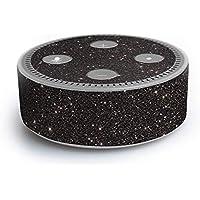 atFoliX Amazn Echó Dot (2. Generation) Skin FX-Glitter-Black-Sky Designfolie Sticker - Reflektierende Glitzerfolie