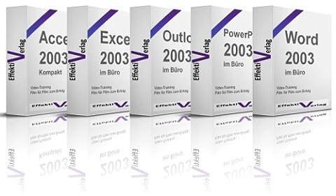 Office 2003 im Büro, Access, Excel, Outlook, Powerpoint, Windows 7 und Word, sechs Trainings in einem, Microsoft, Videotraining auf DVD