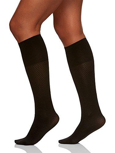Berkshire Damen Comfy Cuff Links Trouser Socks Strümpfe, schwarz, Regulär Größe (Hoch Knie Plus Größe Socken)
