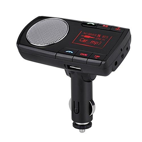 Qiilu Bluetooth drahtloser freihändiger FM Übermittler Auto Installationssatz MP3 Player USB Aufladeeinheit