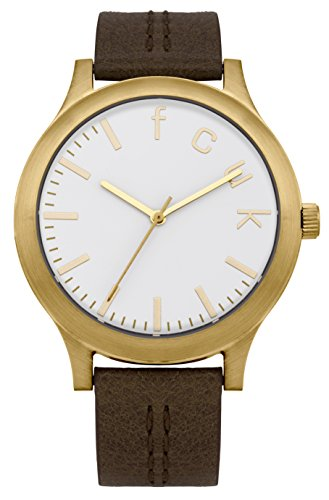 FRENCH CONNECTION FC1138TG - Reloj de pulsera mujer, piel, color marrón