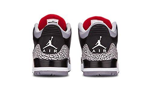 Nike , Herren Basketballschuhe black/varsity red-cement grey