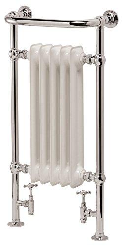 Ultraheat 951 x 534 mm Buckingham - Radiador de diseño tradicional (acero), color cromo y blanco