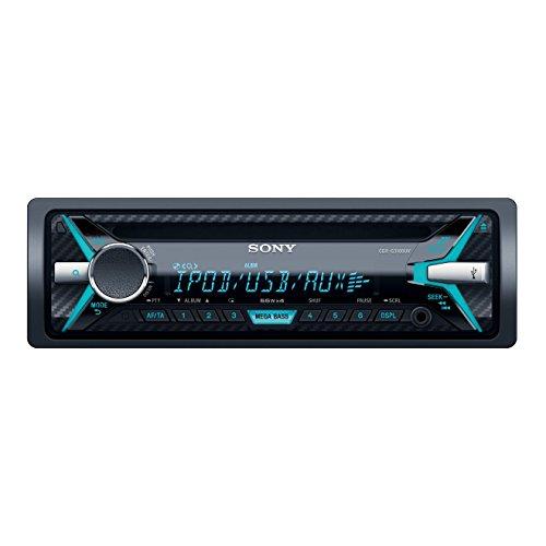 Sony CDX-G3100UV Autoradio con Lettore CD, USB, Aux, Controllo per iPod e iPhone, Potenza massima di uscita 4x55W, Nero