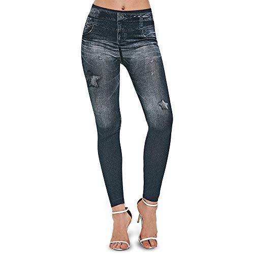 b7b943d475a347 Longs pantalons Étoiles Imprimer Skinny Pants Vérifié Taille Haute Skinny  Pants Femmes Rétro Casual Taille Haute