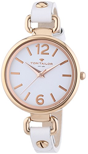 TOM TAILOR Damen-Armbanduhr XS Analog Quarz Leder 5413002