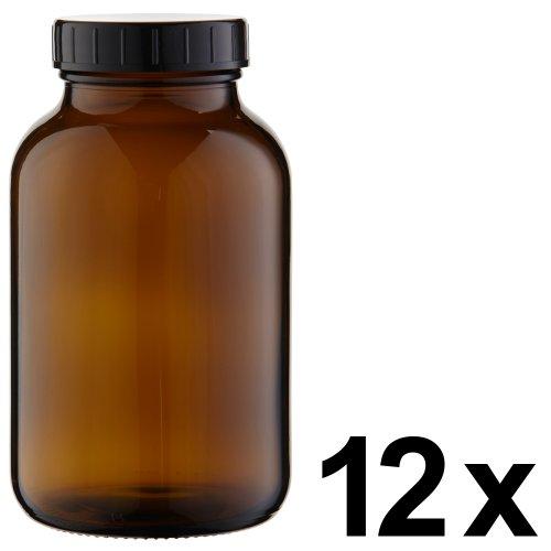 12 x Weithalsflasche 1000ml Braunglas inkl. Schraubverschluss mit Dichtungsscheibe *** Weithalsflaschen, Schraubgläser, Weithalsgläser, Braunglasflaschen, Glasdosen, Allzweckgläser, Haushaltsgläser, Weithalsglas, Schraubglas, Allzweckglas, Haushaltsglas, 1 Liter, 1l, 1000 ml, 1Liter ***