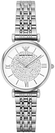 Emporio Armani Casual Watch For Women - Stainless Steel, Analog - Ar1925, Silver Band