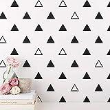 ljmljm 7 cm x 56 Stück (solide Dreieck Muster Kinderzimmer Wanddekoration Aufkleber können angepasst Werden Anzahl