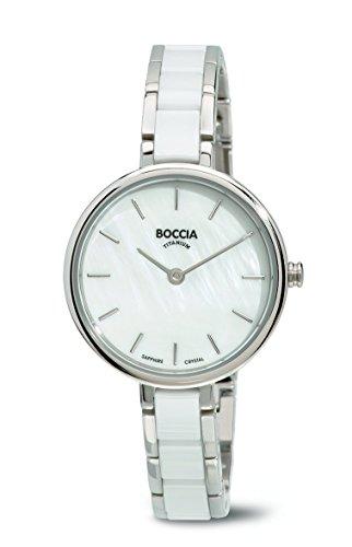 Boccia Damen-Armbanduhr Analog Quarz verschiedene Materialien 3245-01