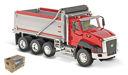 DIECAST MASTER DM85502 CAT CT660 DUMP TRUCK RED 1:50 MODELLINO DIE CAST MODEL (Dump Truck Red)