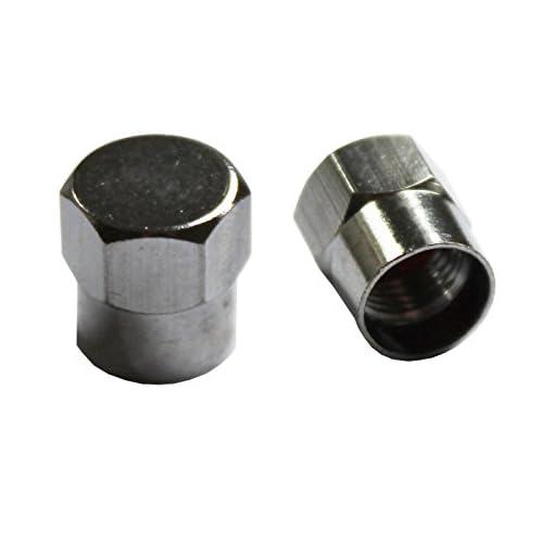 All Trade Direct, capsule per valvole di pneumatici cromati esagonali in metallo, per auto, moto, quad, furgoni