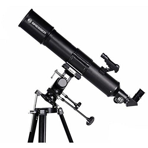 500 Teleskop (Bresser Teleskop Taurus 90/500 MPM mit Stativ und Smartphone Kamera Adapter)