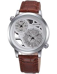 HWCOO Relojes de Pulsera Skone/Reloj de los Hombres cinturón de Moda Reloj de Cuarzo