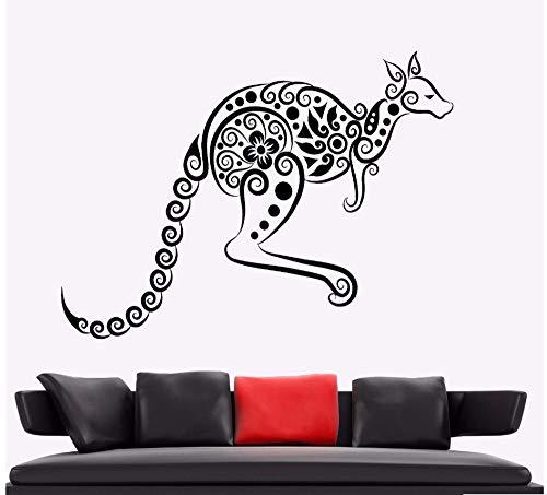 Zxfcczxf Wandaufkleber Känguru Tier Vinyl Wandtattoo Australien Ornament Wandkunst Wandhaupt Wohnzimmer Dekor Känguru Vinyl Kunst 72 * 55 ()