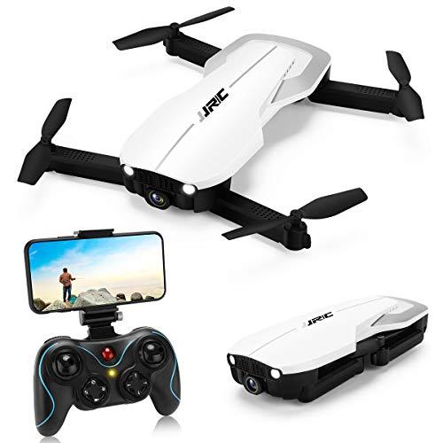INKPOT JJRC H71 Faltbare Drohne mit Optischer Fluss Höhe Halten,Drohnen mit Kamera 1080P für Erwachsene, 22(11+11) Minuten Lange Flugzeit, WiFi FPV Live Video Quadrocopter Drohne für Anfänger (weiß)
