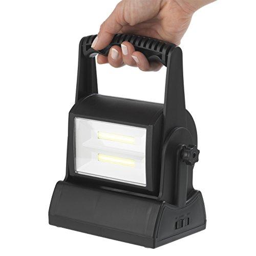 Preisvergleich Produktbild EASYmaxx 03004 LED-Arbeitsleuchte / Baustellen-Leuchte,  Fluter,  Scheinwerfer / 200 Lumen / 180 Grad Schwenkbar,  mit 2 Super starken COB-Modulen,  inkl. Batterien