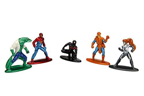 Marvel Spider-Man 5er Pack - Nano Metalfigs 4cm Sammelfigur 99252 detailgetreue Gestaltung Preisvergleich