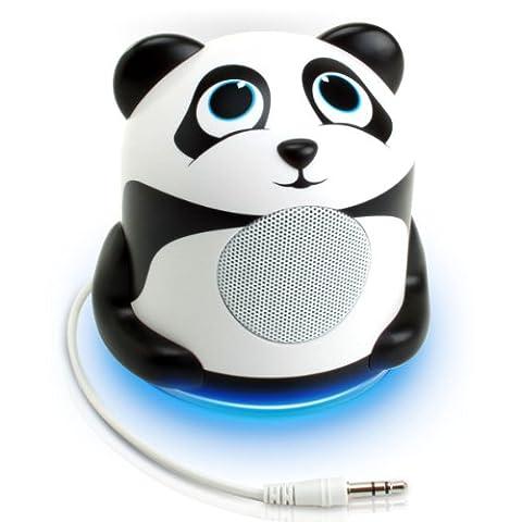 Gogroove Enceinte Haut-Parleur Enfant avec LED à la Base – Pour Smartphones , Tablettes , MP3 : Apple iPhone , iPad , iPod / Samsung Galaxy Tab et tout Appareil équipé d'un Port Jack 3.5 mm - Panda Jungle Party