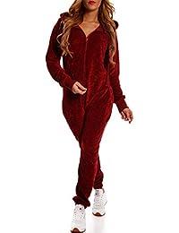 Crazy Age Damen Jumpsuit aus Samt (Nicki, Velvet) Wohlfühlen mit Style. Elegant, Kuschelig, Weich. Overall, Ganzkörperanzug, Jogging - Freizeit Anzug, Onesie