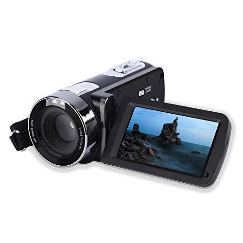 Caméscope numérique, PowerLead Upgraded caméra de Capture de Visage HD 1080P vidéo beauté caméra Vlogging 24MP ACL 3,0 Pouces LCD 270 degrés écran Rotatif Zoom numérique 18X