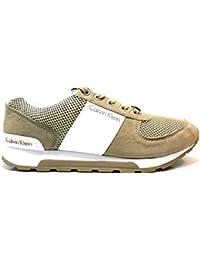 Calvin Klein J Dusty se8521Pardo deportivas hombre zapatilla de deporte