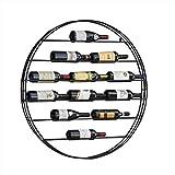 WCS Porte-Bouteilles Européenne Porte-Vin en Fer Forgé Porte-Vins Café Bar Mur Restaurant Créatif Présentoir De Vins Vin Armoire À Vin Étagères flottantes