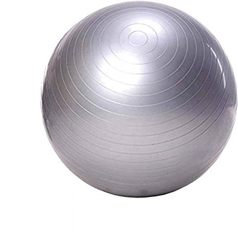 LALA LIFE Sgl Rubber Anti Burst Gym Ball (Grey, Medium)