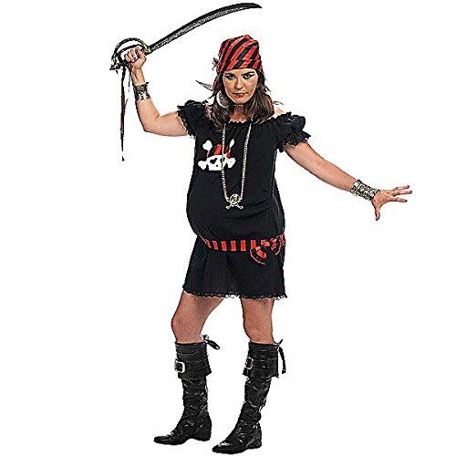 Piratin Kostüm Klassiker für Schwangere Umstandsmode 2-teilig Kleid mit Kopftuch - S