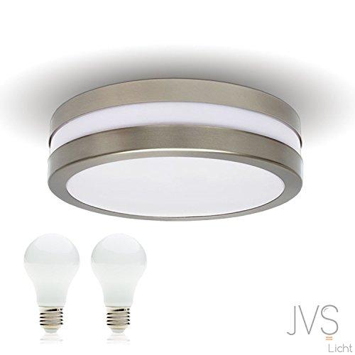 LED Deckenleuchte Bad-Lampe Aussen-Leuchte PROVANCE E27 230V IP44 (inkl. 2x LED 13W Warmweiss) LED Lampe Wandleuchte LED-Deckenleuchte Außenleuchte Wandstrahler LED Leuchte Aussenbeleuchtung Wohnzimmerlampe für Badezimmer Küche Flur Badlampe Badleuchte Rund