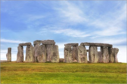Posterlounge Holzbild 180 x 120 cm: Stonehenge von Joana Kruse