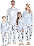 Sleepyheads Kinder Bär Schlafanzug - Grau Oberteil (SHM-4038-K-EU-2T)