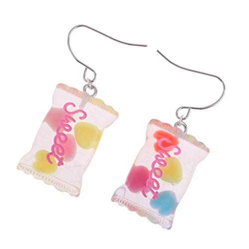 MagiDeal 1 Paar Süße Puppen Süßigkeiten Ohrringe Schmuck Für 1/6 weibliche Puppe Kostüm Zubehör