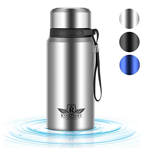 RANSENERS Thermosflasche \'wideBottle\', Thermoskanne Wasserflasche, 700ml, 100{ec70555ad78a6cfed841330f1984b715922d24b79fe185b88a9420b8f63578af} Auslaufsicher, BPA frei, Sport Trinkflasche Isolierflasche Reiseflasche - Doppelwandig
