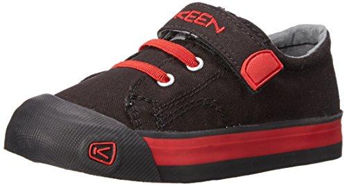 Keen Coronado Lace Kinder Schuhe veganer Jungen Sneaker Halbschuhe Klettverschluss Canvas Slipper, Schuhgröße:EUR 31;Farbe:Schwarz (Canvas Klettverschluss)