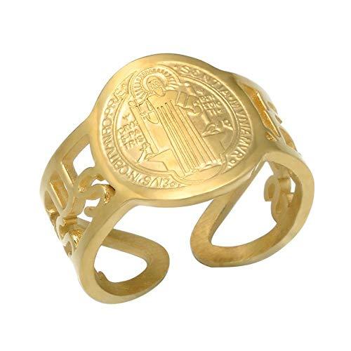 MAFYU Qualität Ringe Christliche Religion Kreuz Bibel Lady Titan Ring Geschenk Zu Lieben, Feriengeschenk