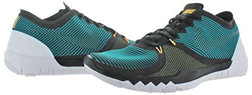 NikeFree Trainer 3.0 V4 - Scarpe fitness Uomo BLACK/RADIANT EMERALD-MDM OLIVE-WHITE