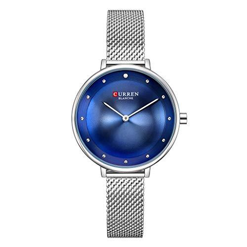REALIKE Damen Armbanduhren Elegant Runde Keine Nummer Wasserdicht Mesh-Gürtel Uhren Einfach Ultradünn Britische Artart und Weise Quarzgeschäftsuhr Neue High End Geschäftsuhr Business Freizeit