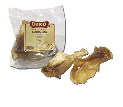 Artikelbild: DIBO Lammohren, 4 x 70g-Beutel, der kleine Naturkau-Snack oder Leckerli für Zwischendurch, Hundefutter, Qualitätskauartikel ohne Chemie von DIBO