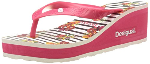 Desigual Damen Lola Flores and Rayas Sandalen Rot (red 3192)