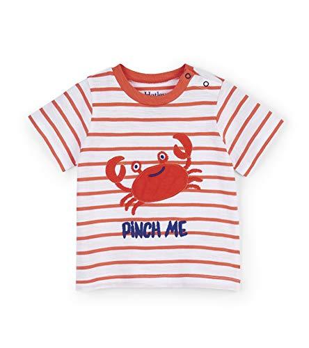 Hatley Short Sleeve Graphic Tees T-Shirt, (Silly Crustacean), (Taille Fabricant: 18-24 Mois) Bébé garçon