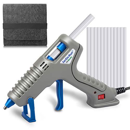 SerDa-Run 60W Heißklebepistole Klebepistole Set mit 12 Heißklebesticks und Angepasster Werkzeugstasche für DIY Kleine Handwerk und schnelle Reparaturen