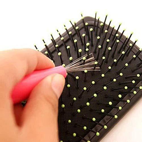 Xiton Haarbürste Entferner 1 Stück Haarpinselreiniger Kamm Reinigungsrechen Kämme Reiniger Haar Tangled Knoten Remover Embedded Plastikhandgriff-Werkzeug (Random)