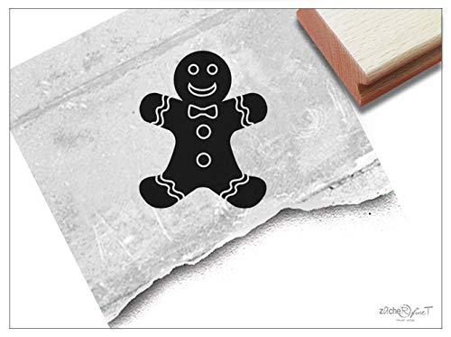 Stempel Weihnachtsstempel LEBKUCHENMANN - Bildstempel Weihnachten Advent Karten Basteln Backen Weihnachtsdeko Geschenk für Kinder - zAcheR-fineT