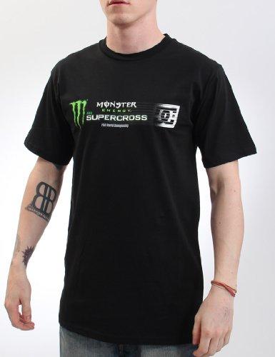 DC Shoes Damen T-shirt Monster Energy SX12 Supercross-Herren Schwarz - Schwarz