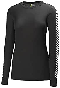 Helly Hansen Women's W HH Dry Original Long Sleeve Baselayer - Black, X-Small