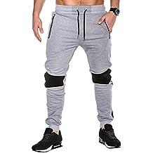 BetterStylz 2TNEBZ Hombre Pantalones Deportivos Joggers Pantalón de chándal con 2 Cremalleras Sweatpant div colores (S-XXL)