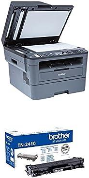 Brother MFCL2710DW - Impresora multifunción láser monocromo con fax e impresión dúplex + Brother TN-2410 Laser