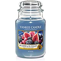 YANKEE CANDLE Giara Mulberry & Fig Grande Candela Profumata, Multicolore