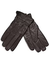 Quivano Mens Genuine Soft Leather Gloves With Elasticated Cuff for Winter # 306-200